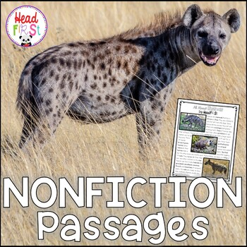 Hyenas Guided Reading Comprehension & Fluency Passages African Animals