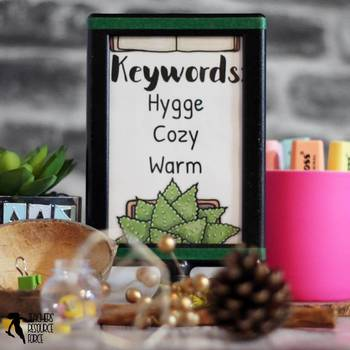 Hygge Themed Station Center Table Signs for the Classroom