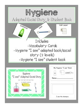 Hygiene Adapted Social Story & Student Book: Early Elementary & Special Ed