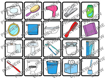 Vocabulary Hygiene & Bathroom Memory for ELL, Autism, and Special Education