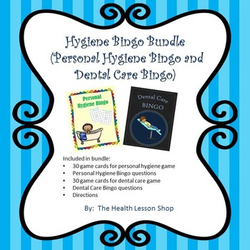 Hygiene Bingo Bundle (Personal Hygiene Bingo and Dental Care Bingo)