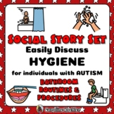 Social Narratives for Hygiene: Bathroom Story Set for Special Needs + Autism