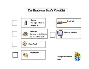 Hygiene Checklist - High School - Special Education - Girl & Boy - ADD - Autism