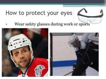Hygiene - Eye Protection w/worksheet (SMART BOARD)