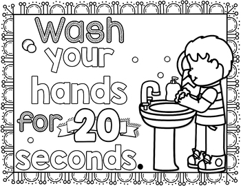 Hand Washing Coloring Sheets | Preschool coloring pages, Coloring ... | 270x350