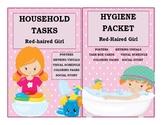 Hygiene & Household Tasks Girl BUNDLE Life Skills Special Ed Visuals Autism