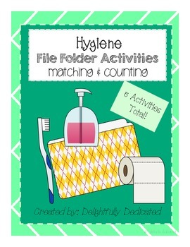 Hygiene Matching & Counting File Folder Activities