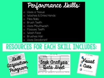 Hygiene Skills for Special Education, Autism or ABA Classroom
