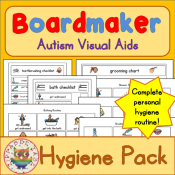 Hygiene Visual Pack - Boardmaker Visual Aids for Autism SPED