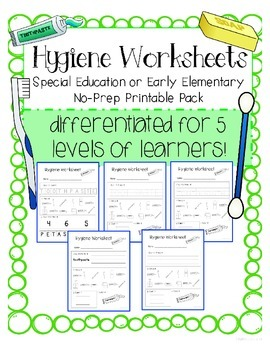 Teach Personal Hygiene To Child | Personal Hygiene Worksheet To ...