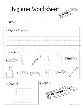 Hygiene Worksheets: Special Education No Prep Printable Pack