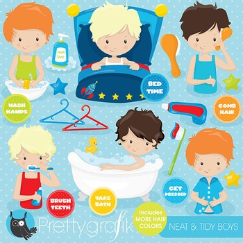 Hygiene chart clipart commercial use, vector graphics, digital - CL799