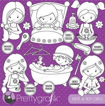 Hygiene chart stamps commercial use, vector graphics, images - DS739