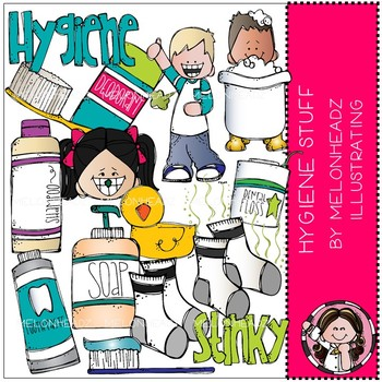 Hygiene clip art - COMBO PACK - Melonheadz Clipart