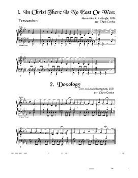 Hymns for Solo and Duet Instruments Percussion