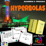 Hyperbolas - Conic Sections Task Cards and Foldable Organizer plus HW