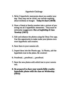 Hyperbole Challenge