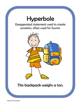 Hyperbole, Figurative Language Center Activity