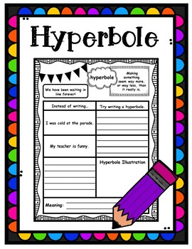 Hyperbole Graphic Organizer