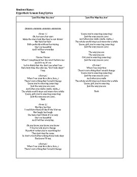 Hyperbole Lesson Song Lyrics