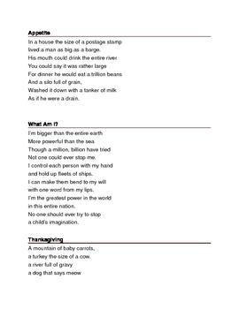 Hyperbole Poems Collection