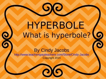 Hyperbole Power Point, Figurative Language, Hyperbole
