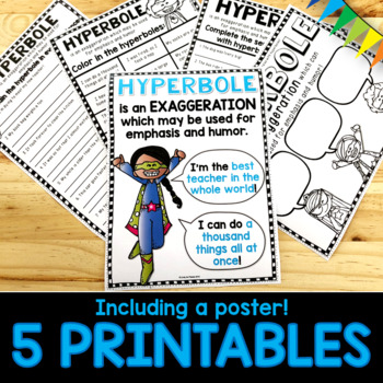 Hyperbole PowerPoint and Worksheets Figurative Language