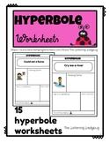Hyperbole Worksheets-Figurative Language