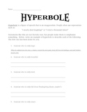Hyperbole/Exaggeration