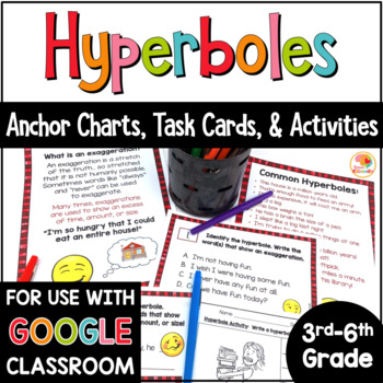 Hyperboles Task Cards and Activities