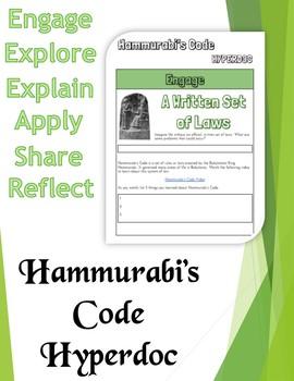 Hyperdoc: Hammurabi's Code Webquest