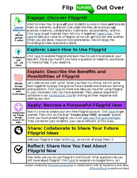 Hyperdoc Lesson for Learning How to Use Flipgrid to Amplify Student Voice