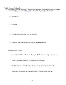 Hyperdoc or Webquest for (all of) Motivation - editable - AP Psychology