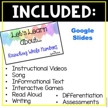 Hyperlinks Learning Board for Google Slides - Rounding {4th Grade}