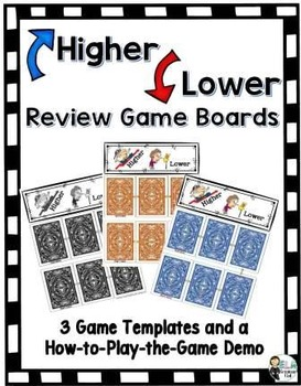 Grammar Playing Cards and Higher Lower Game