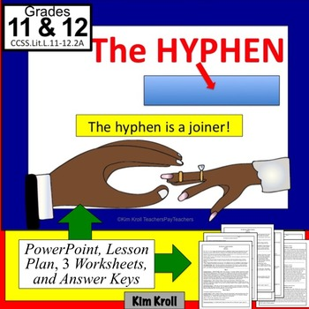 Hyphens  Lesson, PPT, Worksheets, and More!