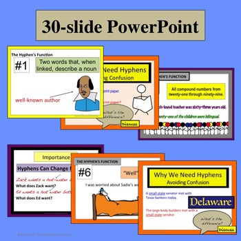 Hyphens : Hyphen Lesson, PPT, Worksheets, and More!