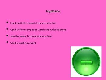 Hyphens Grammar PowerPoint