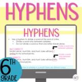 Hyphens Interactive Lesson Digital Google Slides