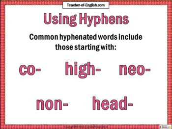 Hyphens and Brackets Teaching Resource