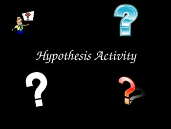 Hypothesis Activity ** Practice Creating Hypotheses