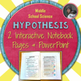 Hypothesis Interactive Notebook Pages for the Scientific Method