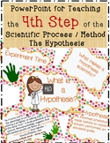 4 Hypothesis PowerPoint Lesson with Experiment, Directions
