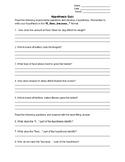 Hypothesis Quiz