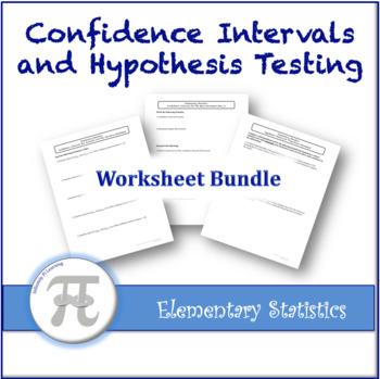Hypothesis Testing Worksheet Bundle