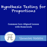 Hypothesis Testing for Proportions (Lesson with Homework)