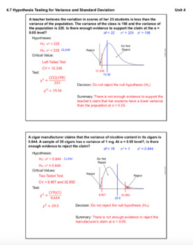 Hypothesis Testing for Variance and Standard Deviation (Lesson with Homework)