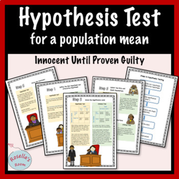 Hypothesis Test for a Population Mean - Analogy to a Criminal Trial