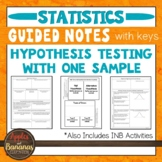 Hypothesis Testing with One Sample - Statistics INBs and G
