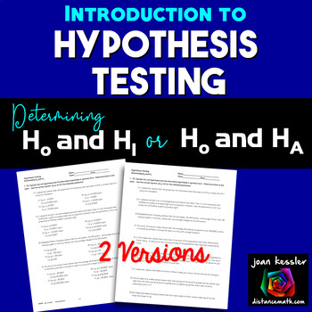 Hypothesis Tests Introduction  Statistics